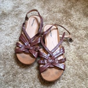 Brown Bare Trap Sandals